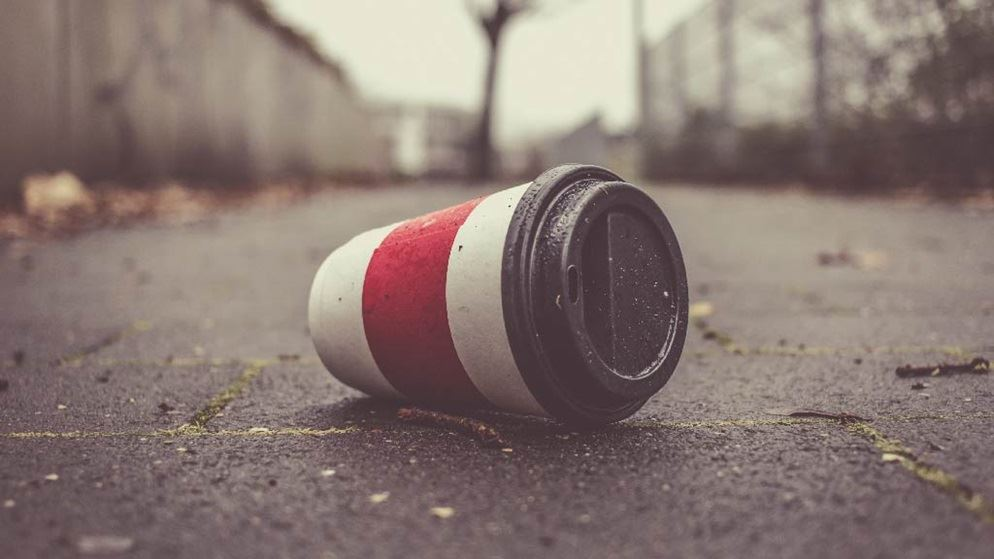 Image result for takeaway coffee cup rubbish