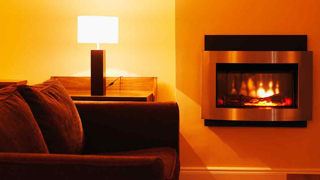 flame effect heater loungeroom