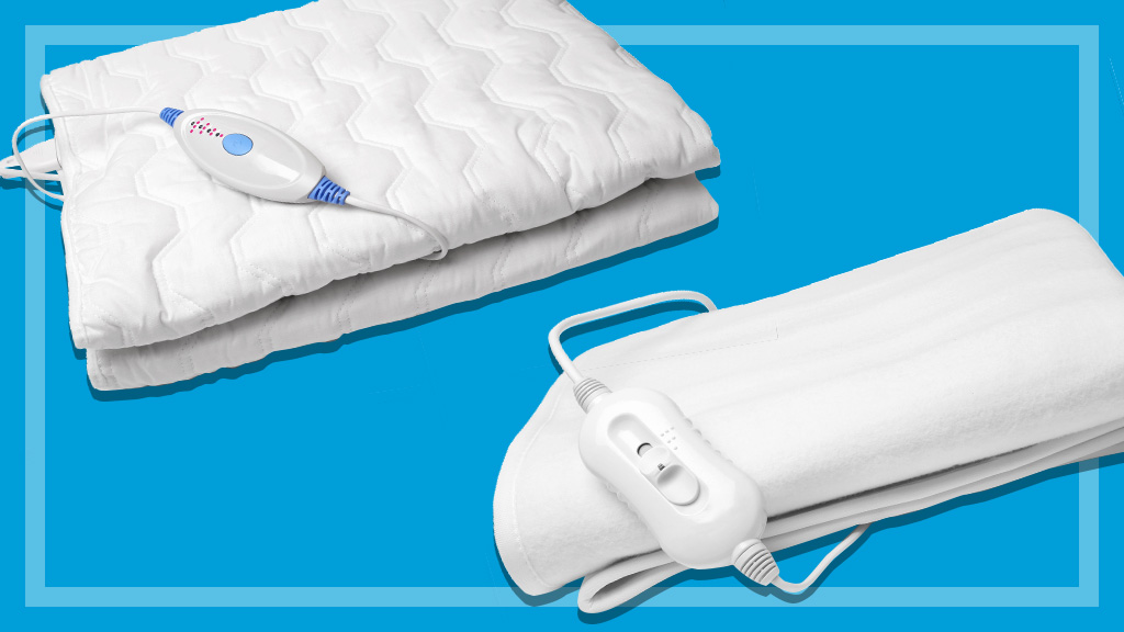 two white electric blankets bg