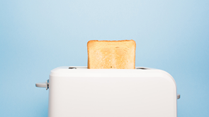 toaster with toast popping out