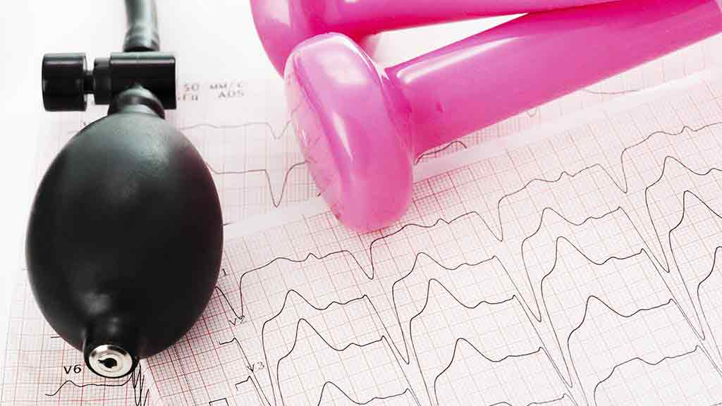 blood pressure pump and chart