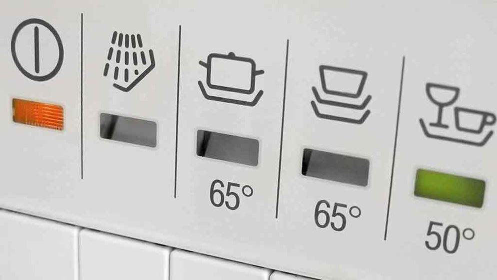 dishwasher controls for trouble shooting