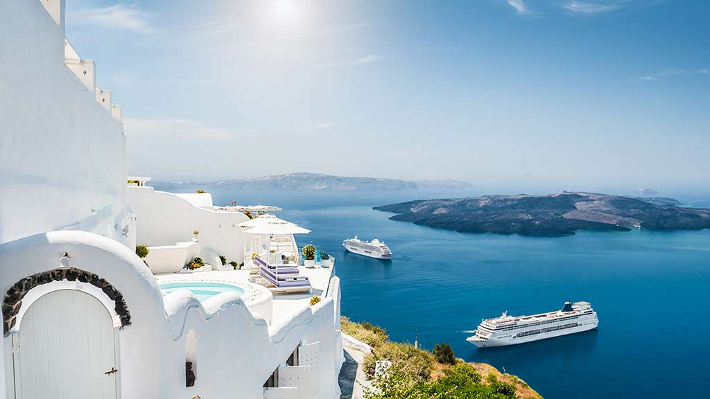 two_cruise_ships_near_santorini