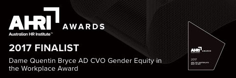 AHRI 2017 finalist Gender Equity in the Workplace Award