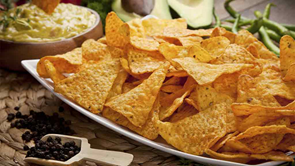 bowl of corn chips