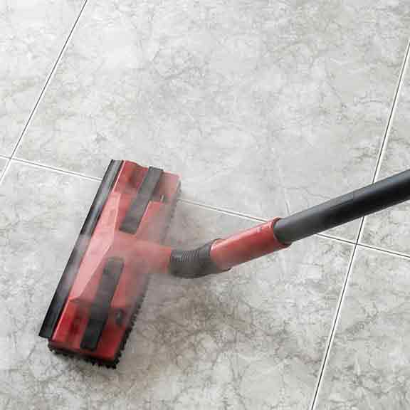 steam mop on tiles square