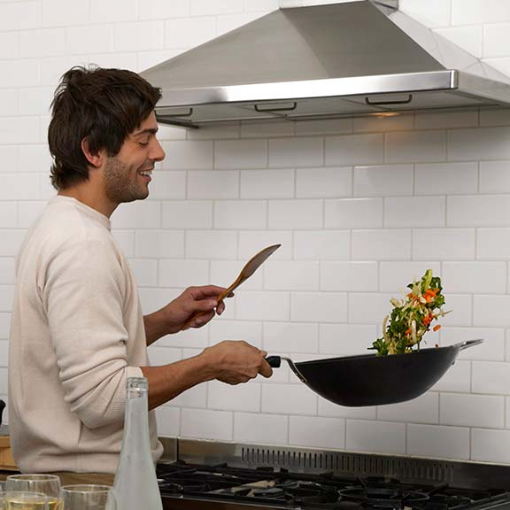 using a rangehood in a kitchen square