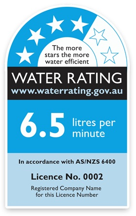 waterrating label