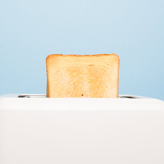 toaster with toast popping out sq