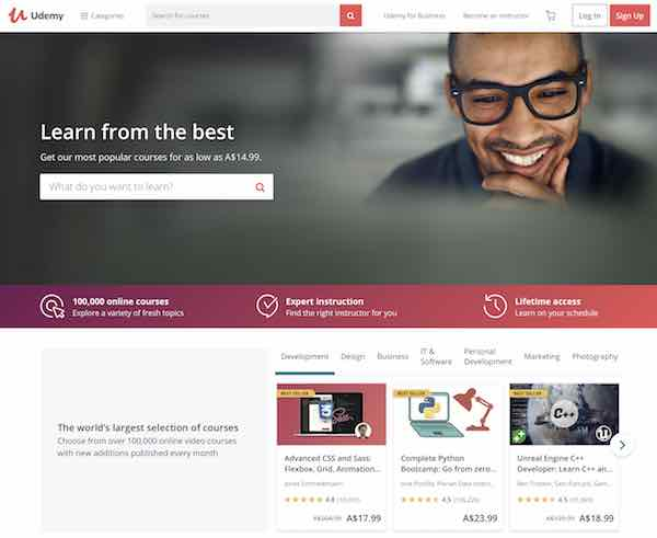 Study online with Udemy, edX, Lynda, MasterClass and more