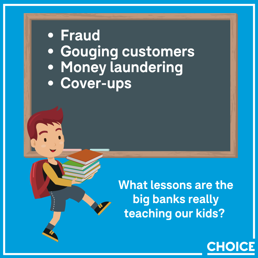 What lessons are big banks really teaching our kids?