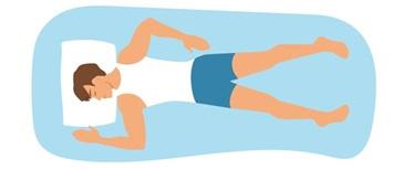 styles de sommeil dormeur d'estomac