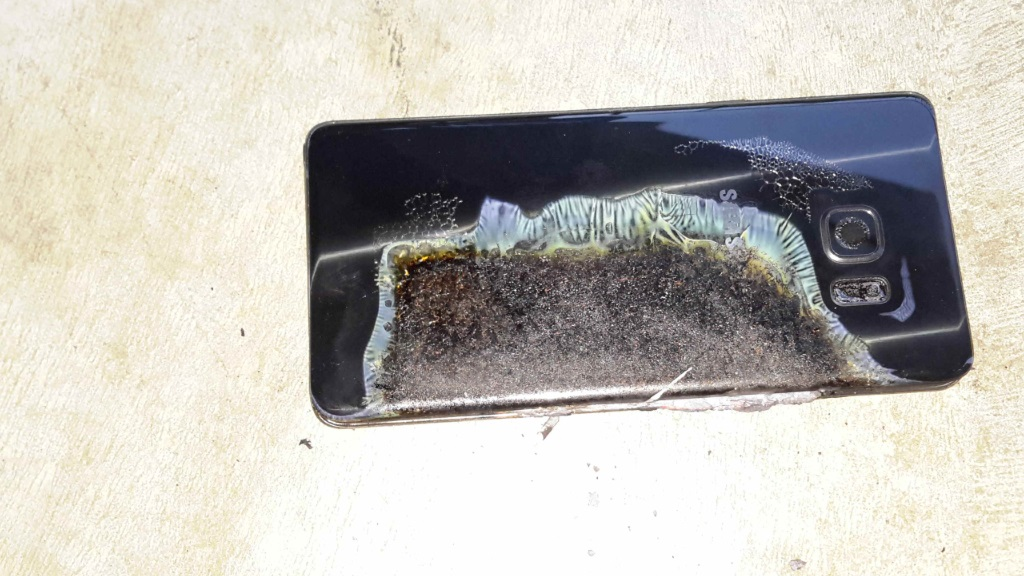 Burned Samsung Galaxy Note7