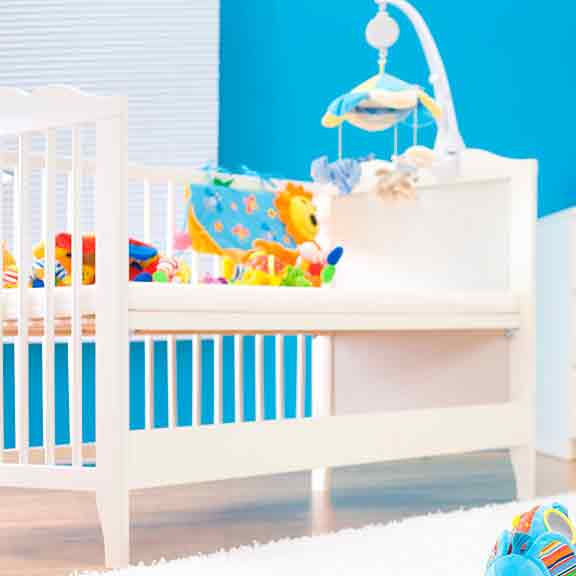 baby cot with toys square