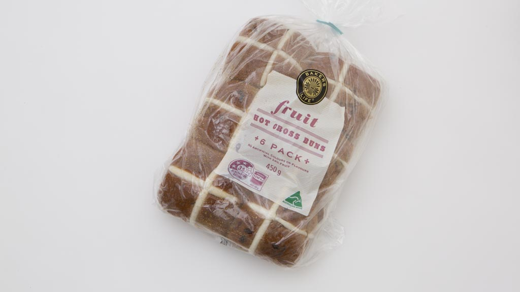 Bakers Life (Aldi) hot cross buns