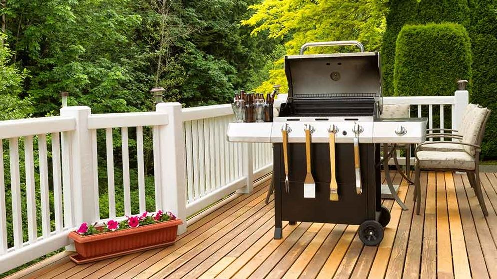 barbecue on a deck