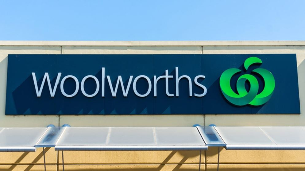 Woolworths supermarket sign