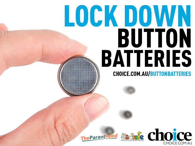 Lock down button batteries