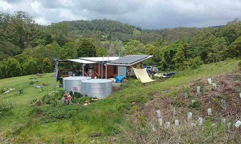 Off-grid eco house in Maleny, Qld.