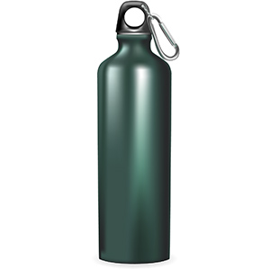 dark green water bottle square