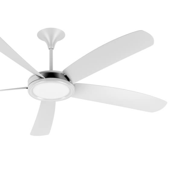 white ceiling fan square
