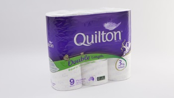 Quilton toilet tissue double length prints