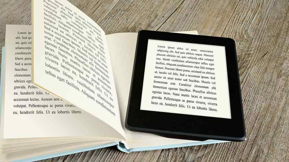 book with ereader