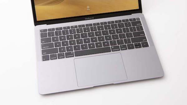 Apple MacBook air keyboard and trackpad