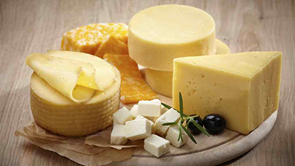 cheese on round board