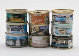 tins of premium tuna cat food