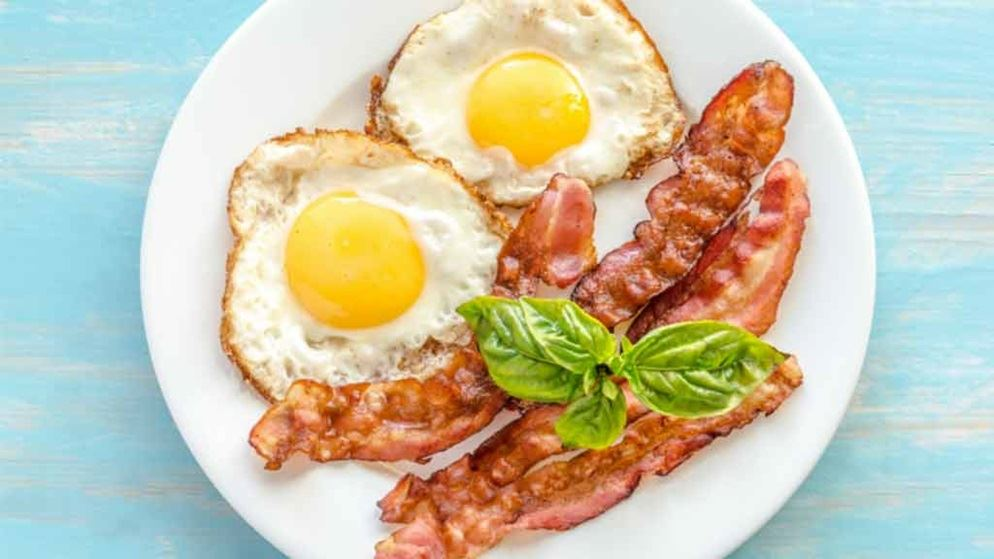 eggs and bacon and saturated fat