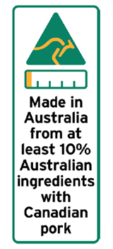 10 percent Australian ingredients label