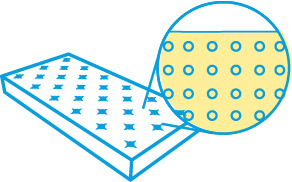 Latex mattress illustration