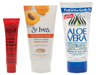 Lucas' Pawpaw, St Ives Apricot and Aloe Vera gel