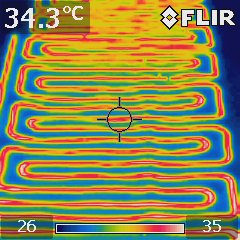 electric blanket thermal image