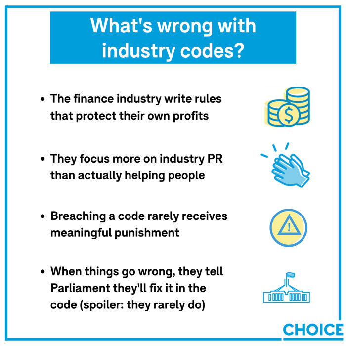 What's wrong with industry codes