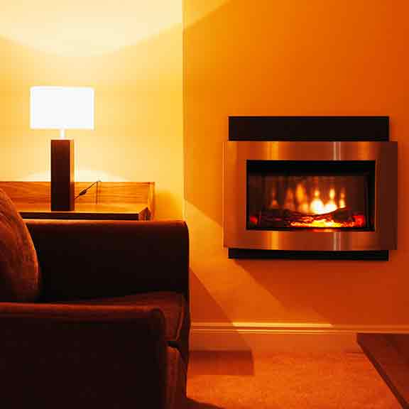 flame effect heater loungeroom square