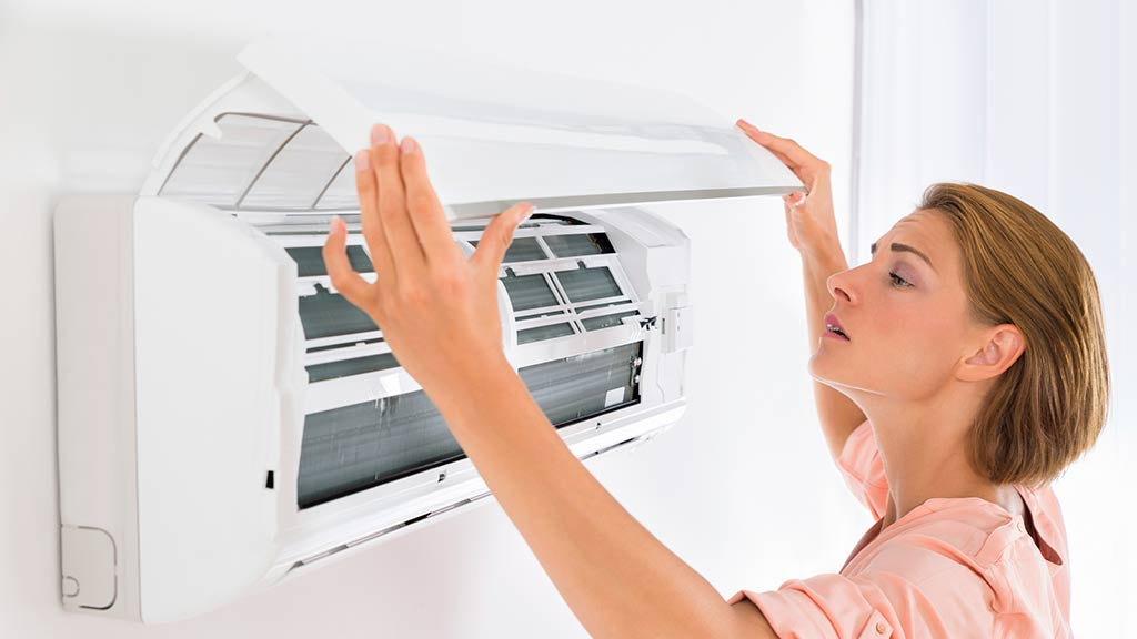 Clean the air conditioner thoroughly