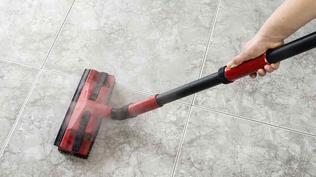 steam mop on tiles