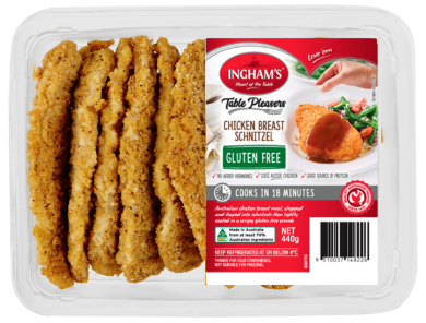 Inghams chicken breast schnitzel