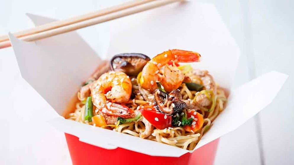 takeaway food in container