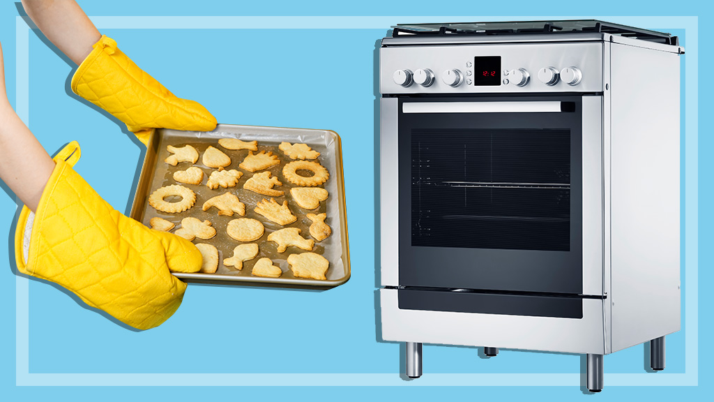 baking cookies and oven