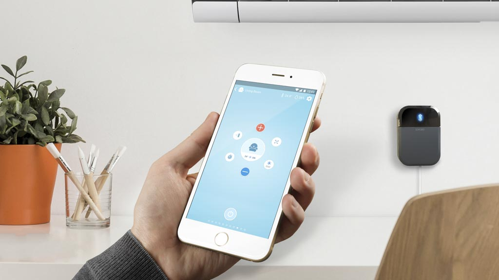 The combination of Sensibo controller and app can help make your air conditioner smarter