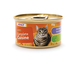 coles complete cat food can